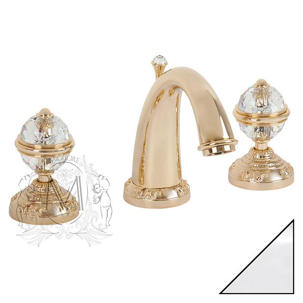 Смеситель Migliore Cristalia Swarovski ML.CRS-3702 Cr для ванны с душем купить смеситель в черкассах