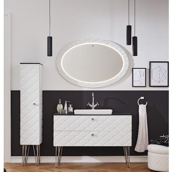 Мебель для ванной Puris Diamond Line DIA331201(897/897) 120 белый диамант - купить в интернет-магазине сантехники Santehnika-shop.su